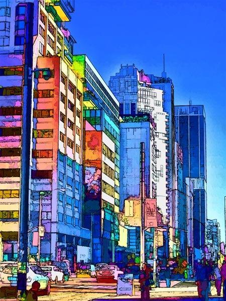Skyscraper Art Print, Toronto Skyline