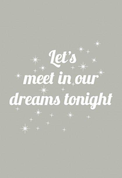 Wenskaart Let's meet in our dreams tonight SPX quote kaarten Studio Inktvis