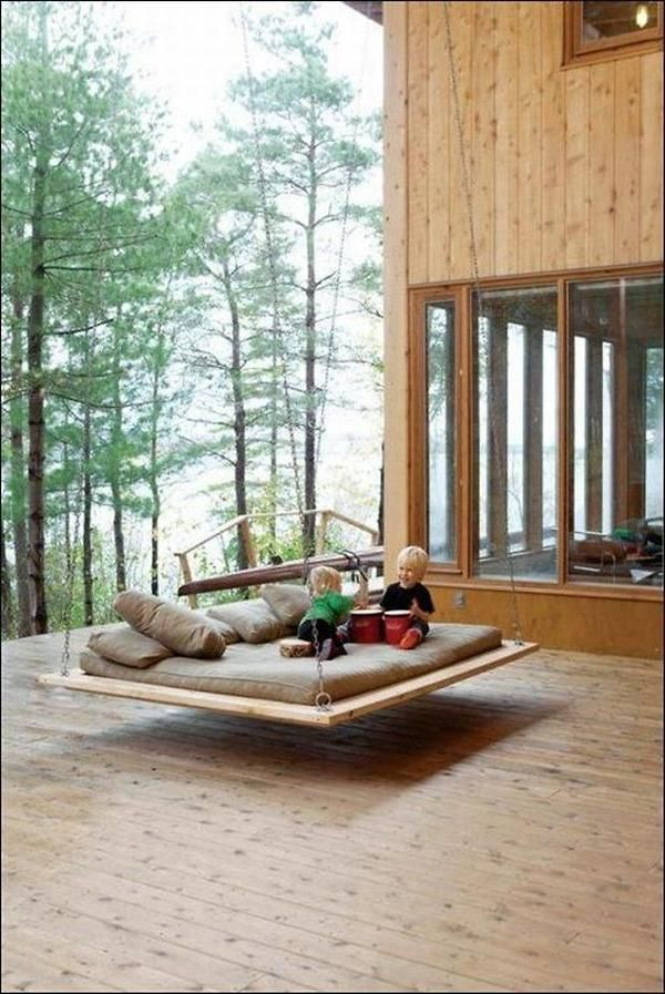 Some day I WILL have this at the cottage!...Indoor & Outdoor Swings