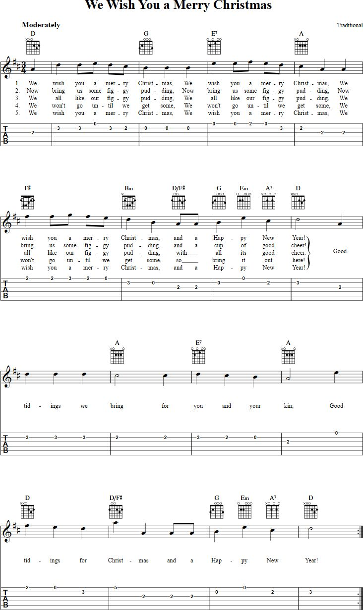 Best 25 guitar chords pdf ideas on pinterest guitar scales pdf we wish you a merry christmas guitar tab hexwebz Images