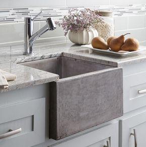 """Gli eleganti lavelli in cucina e in bagno: leggeri e sostenibili grazie alla miscela """"cemento-iuta"""" - Ideare casa"""