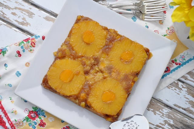 Pineapple & Champagne Mango Upside Down Cake | Upside Down Cakes ...