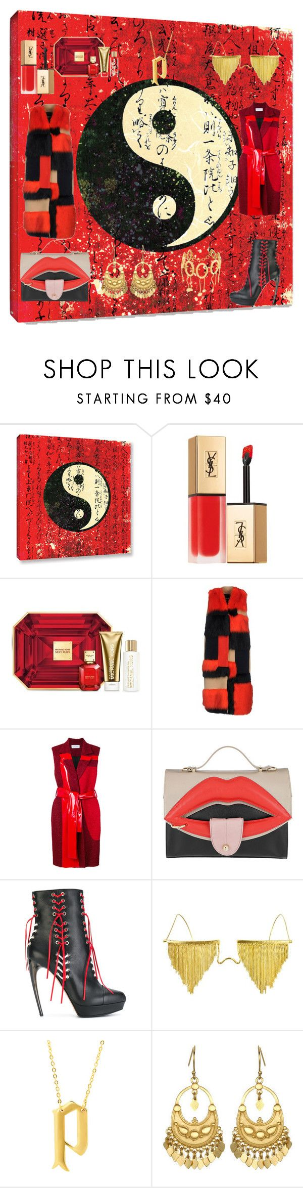 """""""Ying Yang"""" by carmellidesigns ❤ liked on Polyvore featuring Yves Saint Laurent, Michael Kors, MSGM, Gianluca Capannolo, Giancarlo Petriglia, Alexander McQueen, Bjørg, Eklexic, Satya and Paula Mendoza"""