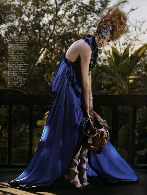 Lara Stone by Mark Segal for Vogue Paris