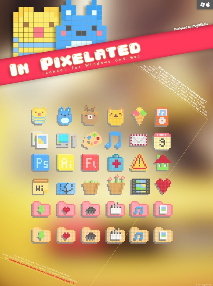 In Pixelated Icon Set by *Cappippuni on deviantART