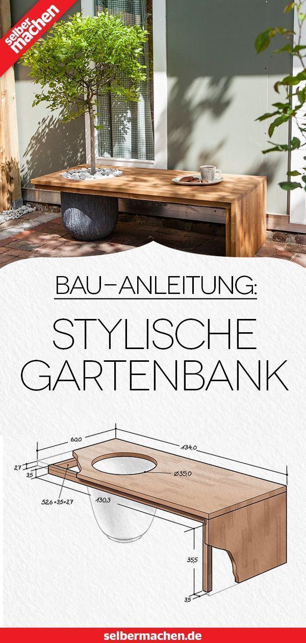 Construire un banc de jardin design: tutoriel gratuit ...
