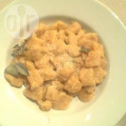 Foto della ricetta: Gnocchi di zucca e patate con salvia e gorgonzola
