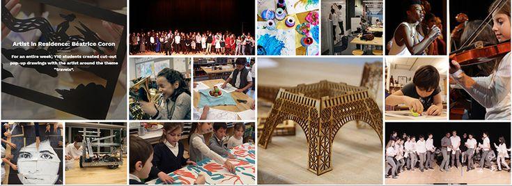 Private school website design trend of masonry on Lycee Francais de New York.