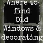 Wonderful post showcasing ingenius uses for old windows - one of my favorite things! Decorating with Old Windows & Where to Find Them From Down To Earth Style