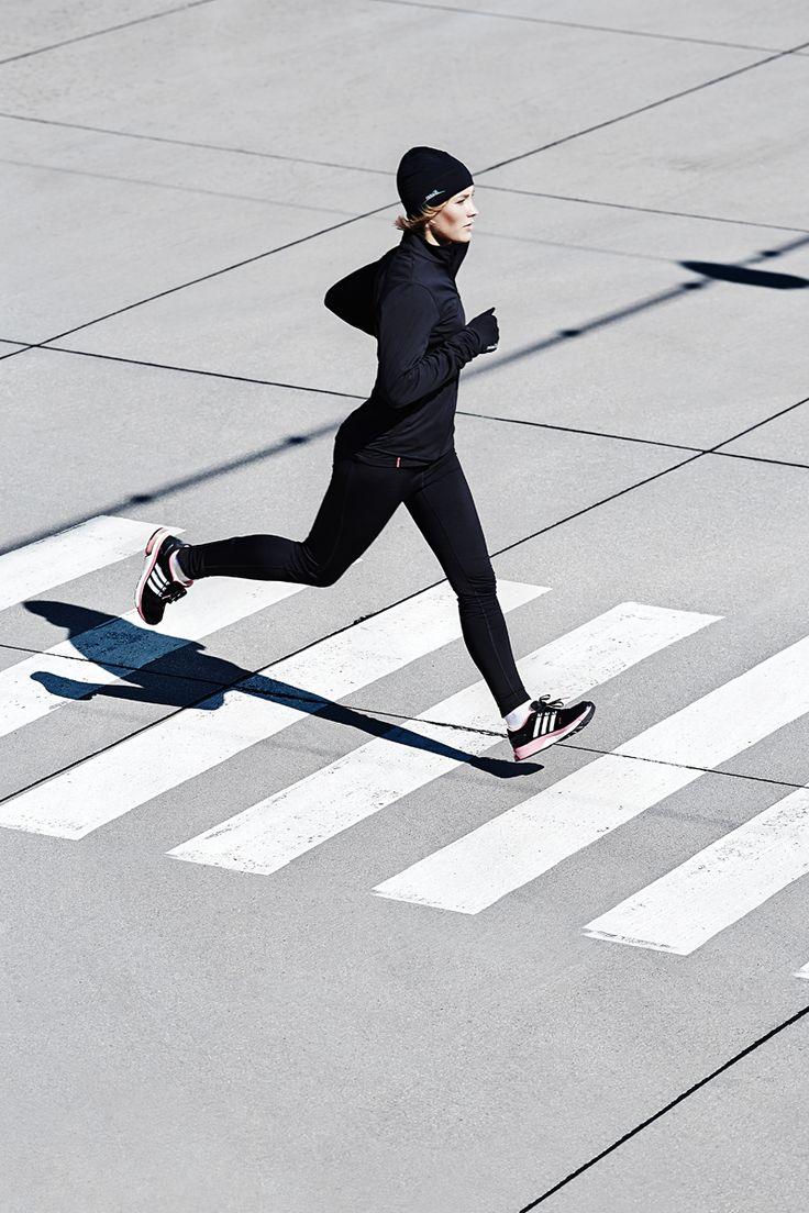Laufen im Winter: #Laufbekleidung von max-Q.com Schuhe von #adidas #adistar #boost