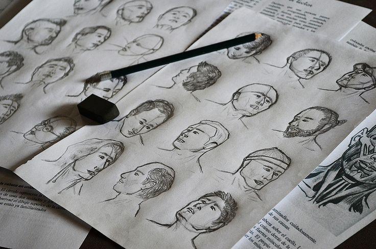 Es una de mis primeras prácticas en el dibujo y bocetos de rostros y cabezas humanas. FACEBOOK: https://www.facebook.com/samuel.saldanaarmas.3