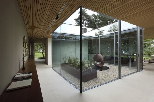 Love this glass atrium!