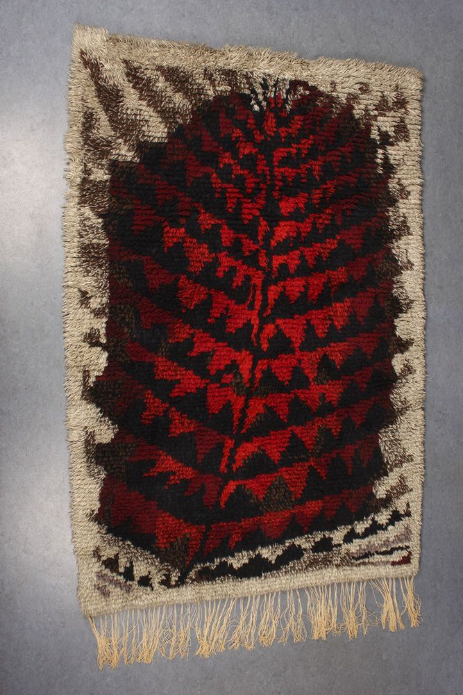 Vtg Burning Forest Kirsti Ilvessalo Wool Wall Rya Rug Finnish Modern Art Design