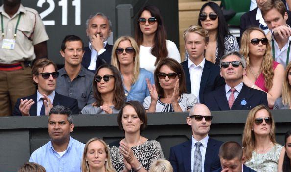 Família de Kate, duquesa de Cambridge, na final de ténis em Wimbledon #kate #winbledon