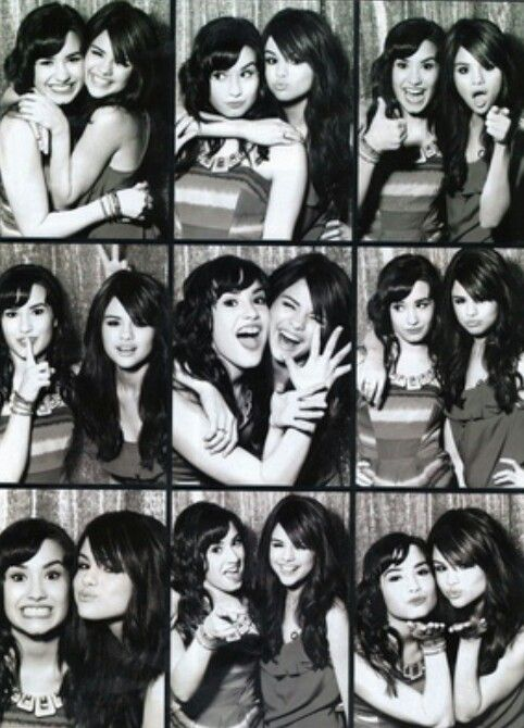 Demi and Selena photoshoot. Best friends.