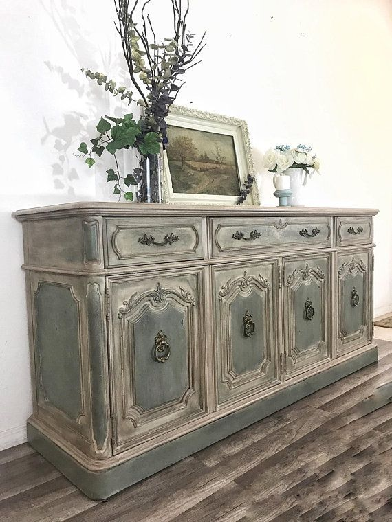 Sold Rustic French Country Buffet Sideboard Server