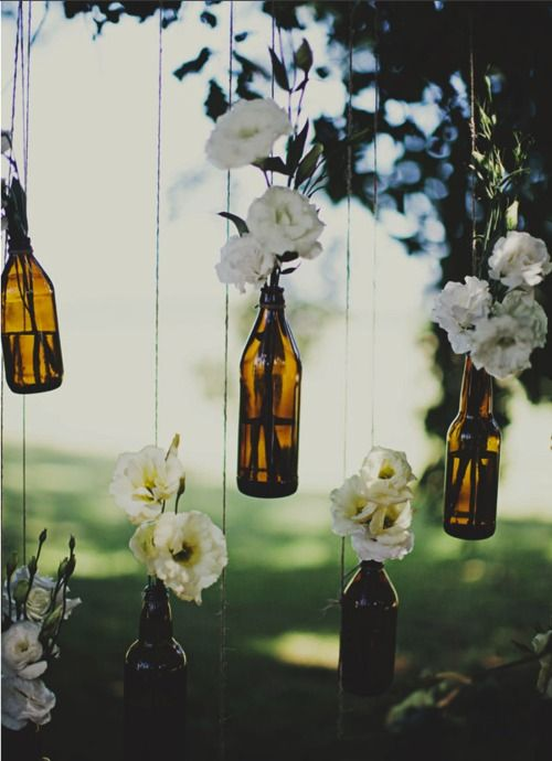 These would be awesome with our screen print bottles...  a classy use for beer bottles