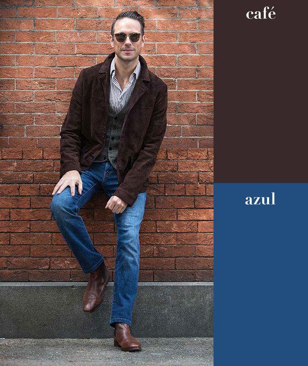 Café + azul | 17 Combinaciones de color que todo hombre puede usar