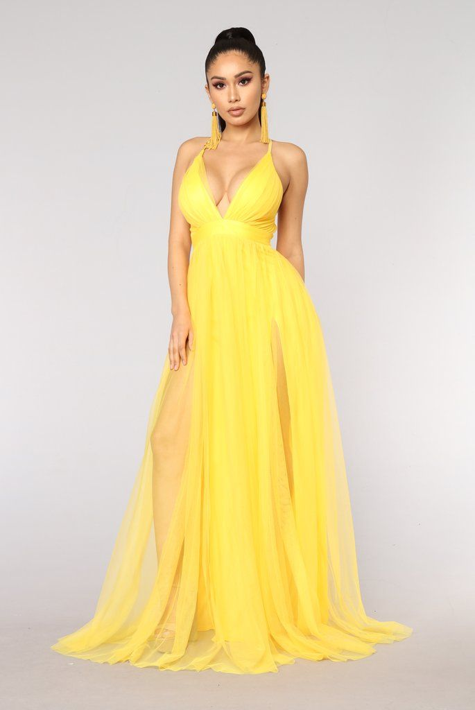 336aaf0967 On The Runway Maxi Dress - Yellow in 2019