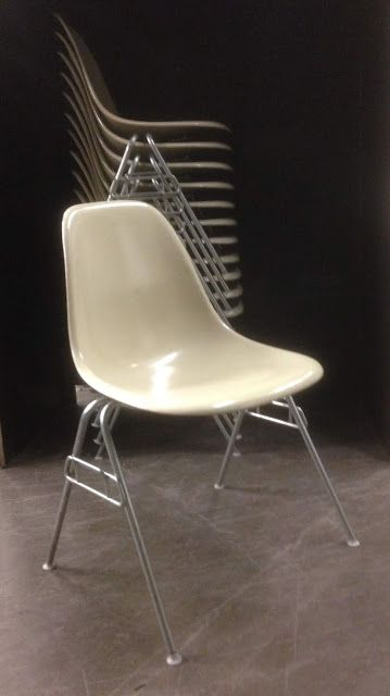 herman miller stacking chairs chair at walmart cafechairs fiberglass vintage eames dss side cafe