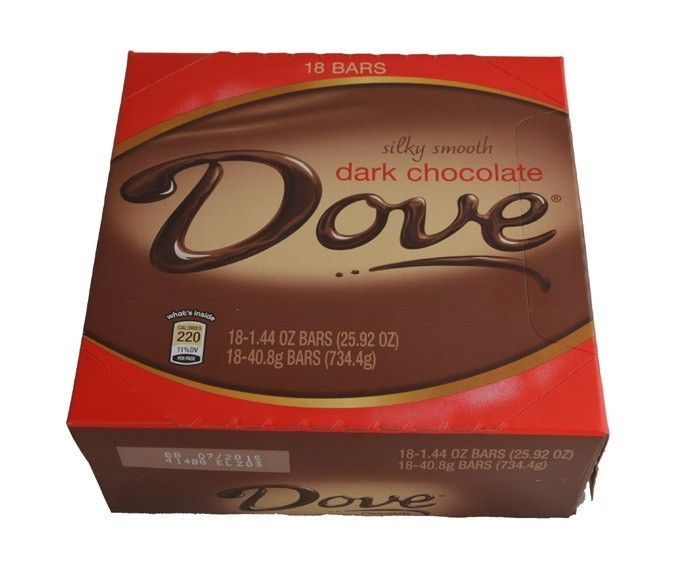 Rainforest Certified Cocoa, the Dove Dark Chocolate Bar...a good excuse to over eat