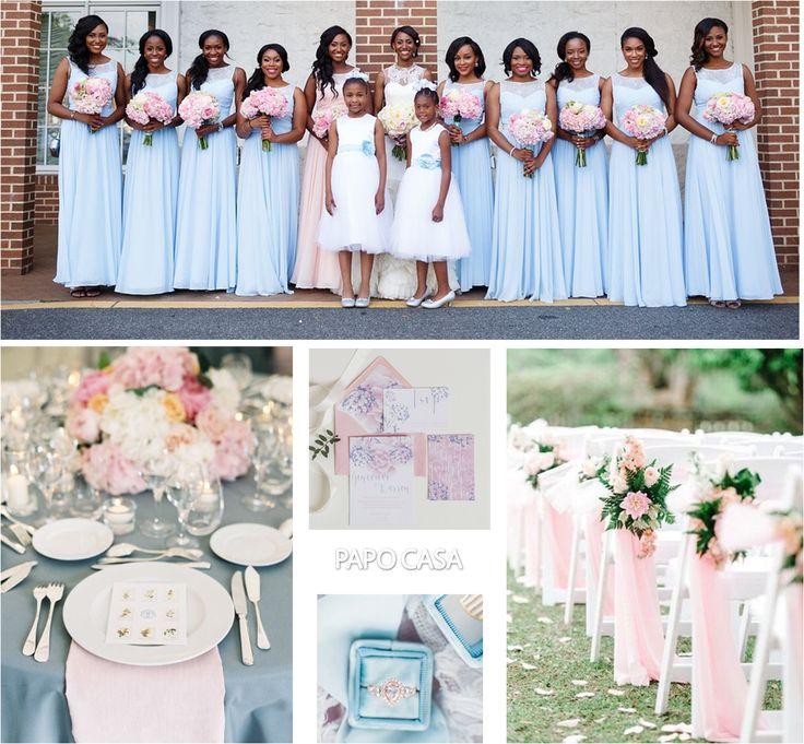 rosa quartzo e azul serenidade cores para casamento