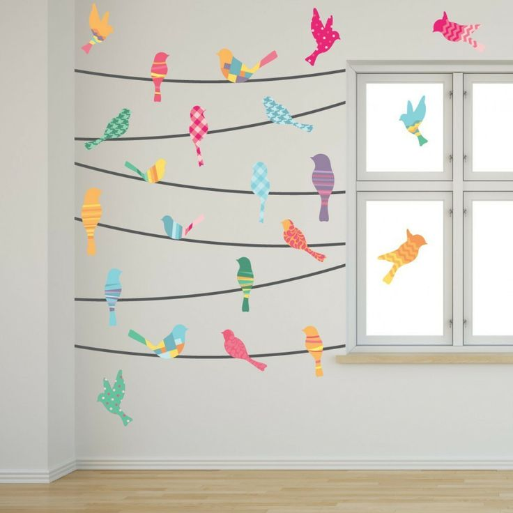 Pattern Birds on a Wire - WallsNeedLove Wall Decals - $32.00 - domino.com #dominomag #pintowin
