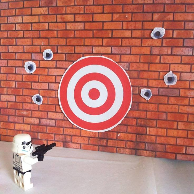 Trooper's target practice was hitting a bit of a brick wall. Star Wars