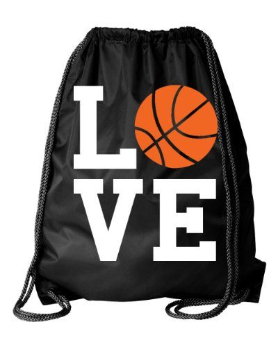 Black Basketball Square Love Drawstring DuroCord Bag Black From #Active Products List Price: $25.99Price: $15.99 Availability: Usually ships in 2-3 business daysShips From #and sold by Kalon Clothing