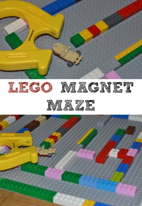 lego magnet maze - science & lego to understand the world
