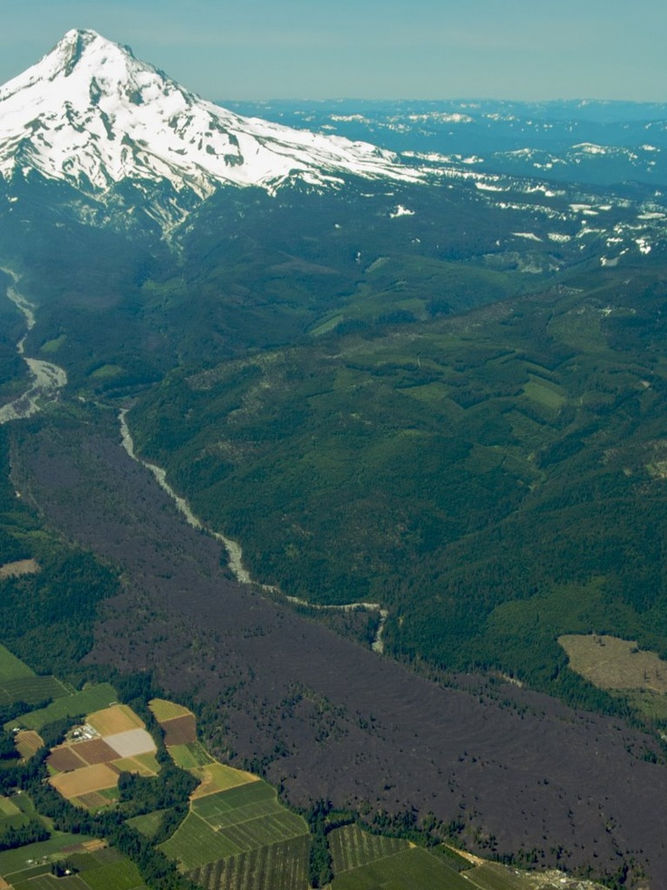 North side of Mt. Hood with old lava flow
