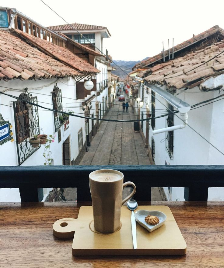 Chai lattes and cookies overlooking Cusco, Peru at my favorite cafe in the city: L'Atelier Cafe! More on Instagram via Live Like it's the Weekend