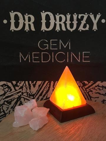 USB Himalayan Crystal Salt Lamp - Pyramid Shape - Dr Druzy - 1