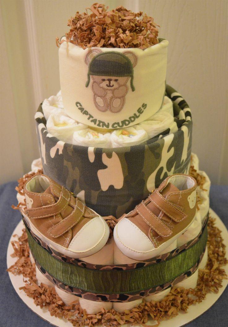 Military diaper cake