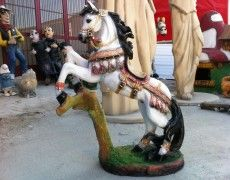 Small Prancing Horse Statue