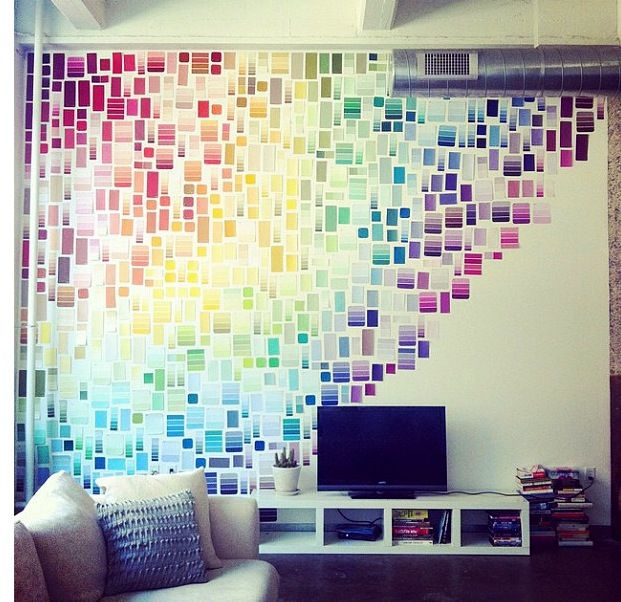 28 Decorating Tricks To Brighten Up Your Rented Home. Paint Chip WallPaint  ChipsPaint ...