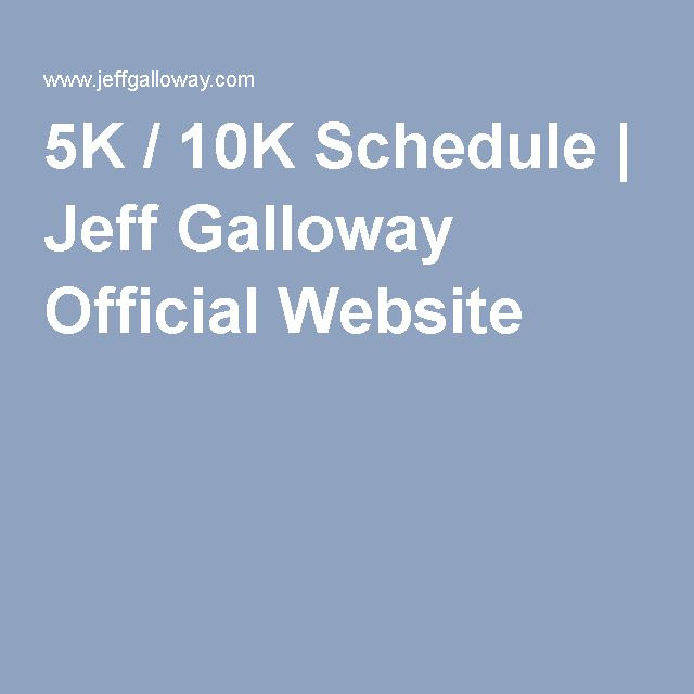 5K / 10K Schedule | Jeff Galloway Official Website