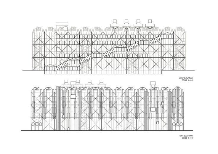 Pik Prapasri Khunakridatikarn POMPIDOU CENTER: Drawings Elevations