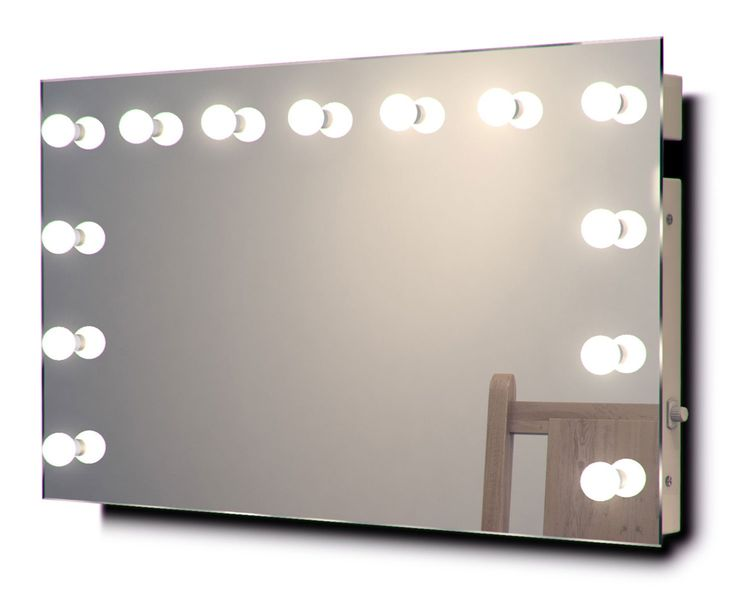 Diamond X Wallmount Hollywood Makeup Mirror with Daylight Dimmable LED k91CWbath