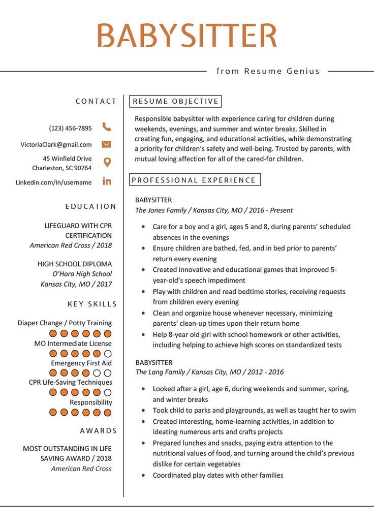 Babysitter Resume Example & Writing Guide Babysitter
