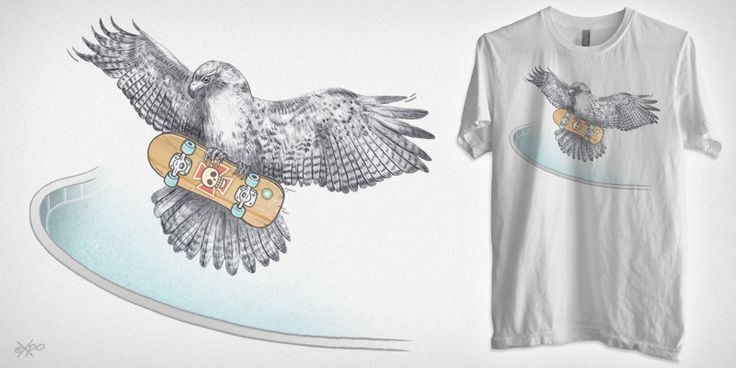 """Hawk"" t-shirt design by expo01"