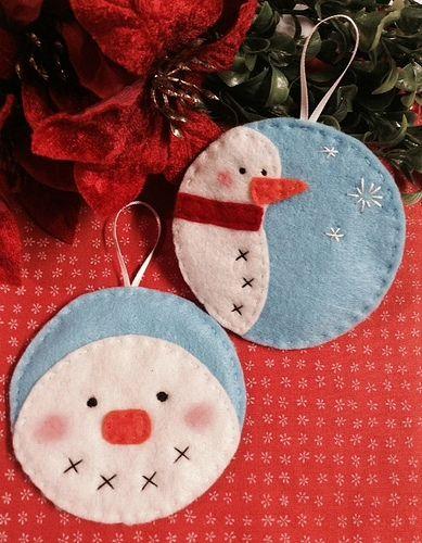 A Pair of Jolly Snowmen Ornaments | Flickr - Photo Sharing!
