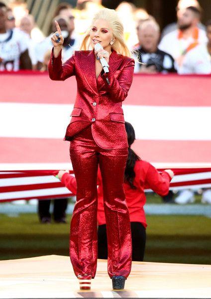 Lady Gaga Photos - Lady Gaga Sings the National Anthem at Super Bowl 50 - Zimbio