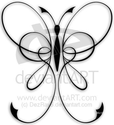 ribbon butterfly tattoo designs - Google Search
