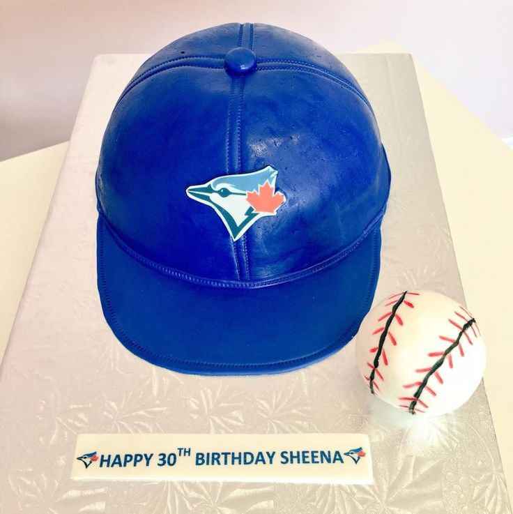 Toronto Blue Jays Cap Custom Cake #DvasCakes