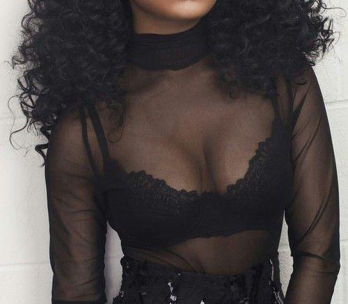 Immagine di black, curls, and fashion