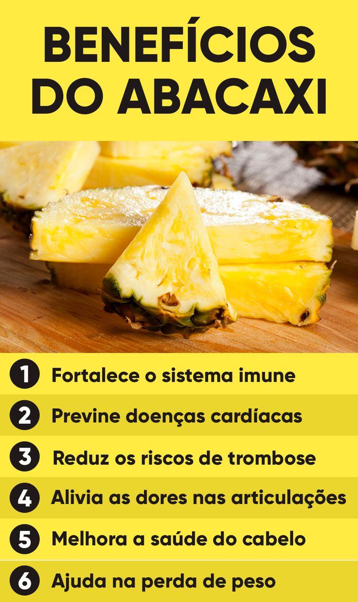 O abacaxi é uma fruta tropical da família das frutas cítricas, como a laranja e o limão, que são ricas em vitamina C e outros antioxidantes, que são essenciais para garantir a saúde.