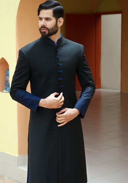 Black Suiting Straight Cut