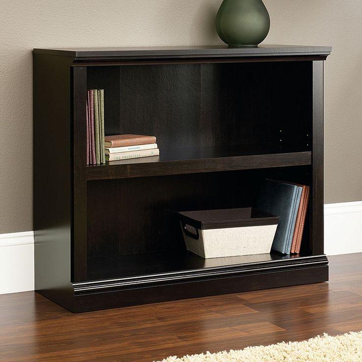 Sauder Contemporary 2-Shelf Bookcase, Black