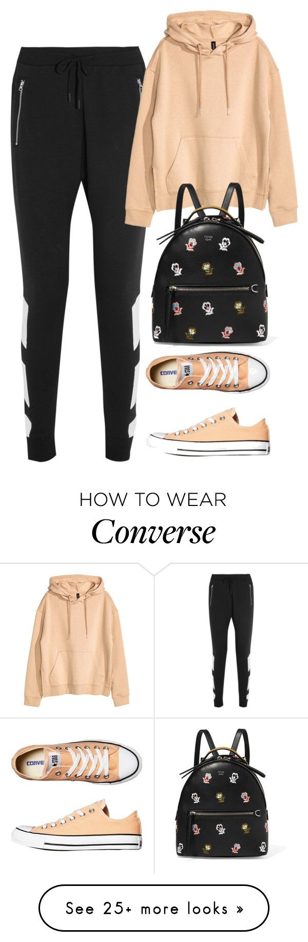 """""""Untitled #2028"""" by rowan-asha on Polyvore featuring adidas Originals, H&M, Converse and Fendi"""